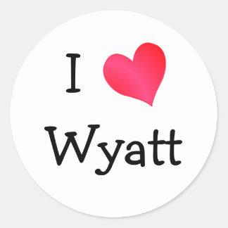 I Love Wyatt Classic Round Sticker