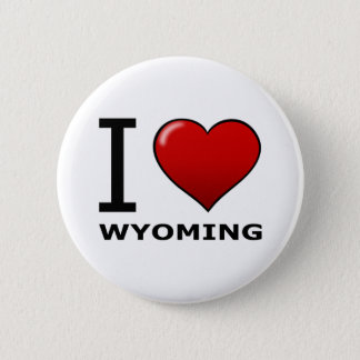 I LOVE WYOMING 6 CM ROUND BADGE
