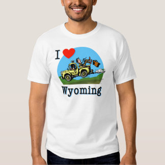 I Love Wyoming Country Taxi T-shirt