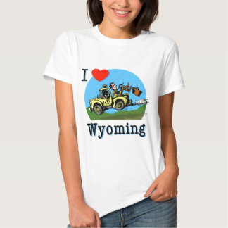 I Love Wyoming Country Taxi Tee Shirt