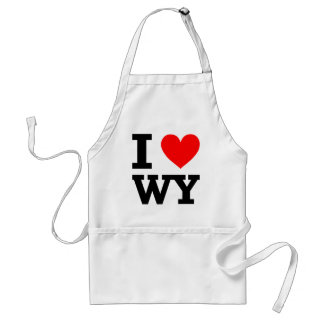 I Love Wyoming Design Standard Apron