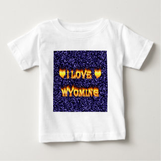 I love wyoming fire and flames t-shirt