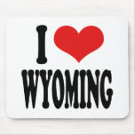 I Love Wyoming Mouse Pad