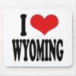 I Love Wyoming Mousepad