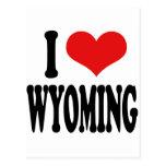 I Love Wyoming Postcard