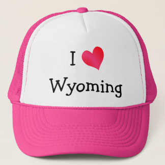 I Love Wyoming Trucker Hat