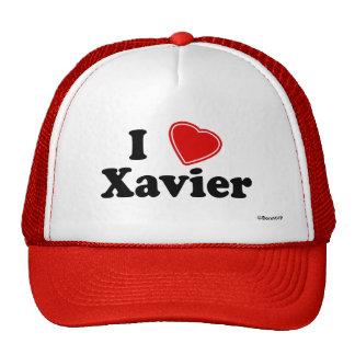 I Love Xavier Hats
