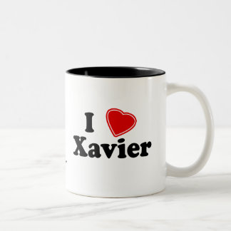 I Love Xavier Coffee Mugs