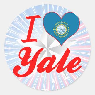 I Love Yale, South Dakota Round Stickers