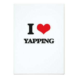 I love Yapping 13 Cm X 18 Cm Invitation Card