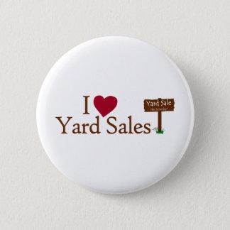 I Love Yard Sales 6 Cm Round Badge
