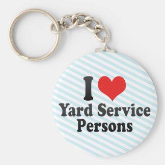 I Love Yard Service Persons Key Chain