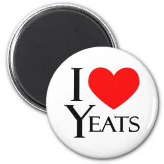 I Love Yeats 6 Cm Round Magnet