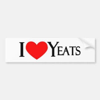 I Love Yeats Bumper Sticker