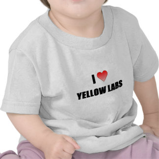 I Love Yellow Labs Shirt