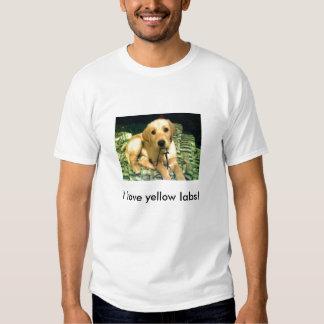I love yellow labs! tee shirts