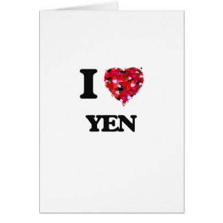 I love Yen Greeting Card