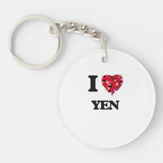 I love Yen Single-Sided Round Acrylic Key Ring