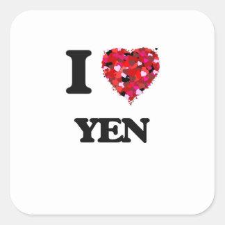 I love Yen Square Sticker