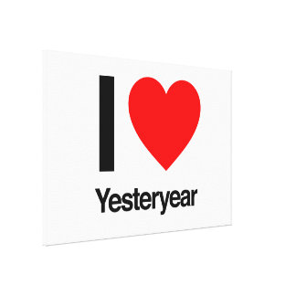 i love yesteryear gallery wrap canvas
