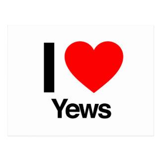 i love yews postcard