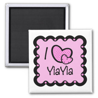 I Love YiaYia Cute T-Shirt Square Magnet