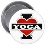 I Love Yoga 10 Cm Round Badge