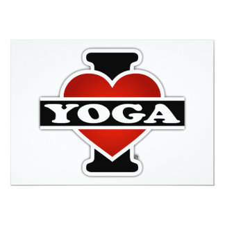 I Love Yoga 13 Cm X 18 Cm Invitation Card