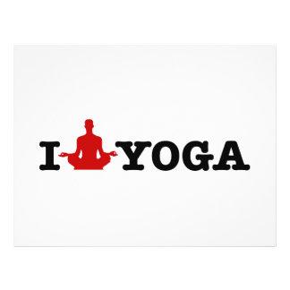 I Love Yoga 21.5 Cm X 28 Cm Flyer