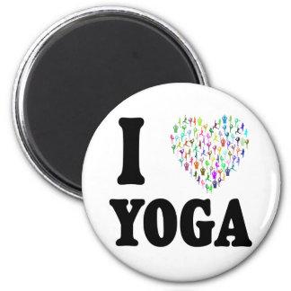 I Love Yoga 6 Cm Round Magnet
