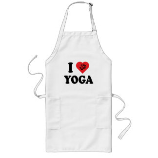 I Love Yoga Aprons