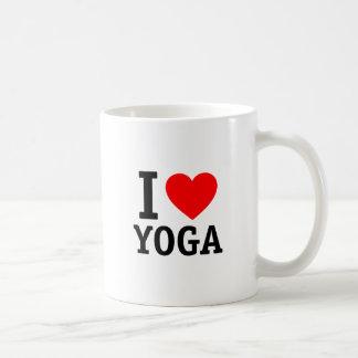 I Love Yoga Basic White Mug