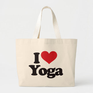 I Love Yoga Large Tote Bag