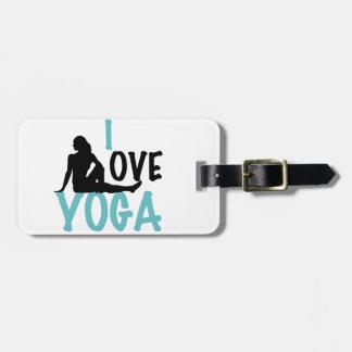 I Love Yoga Luggage Tag