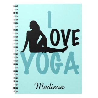 I Love Yoga Personalized Note Books