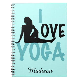 I Love Yoga Personalized Notebooks