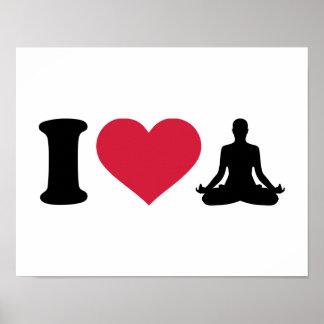 I love Yoga Poster