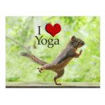 I Love Yoga Squirrel