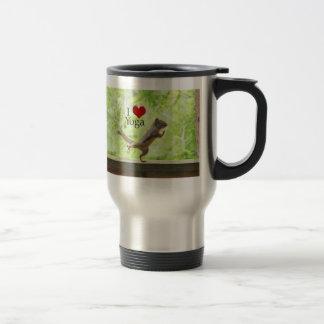 I Love Yoga Squirrel Travel Mug