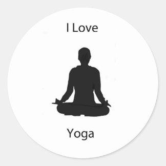 I love yoga stickers