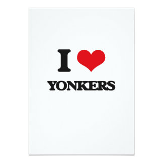 I love Yonkers 13 Cm X 18 Cm Invitation Card