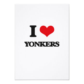 I love Yonkers 5x7 Paper Invitation Card