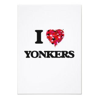I love Yonkers New York 13 Cm X 18 Cm Invitation Card