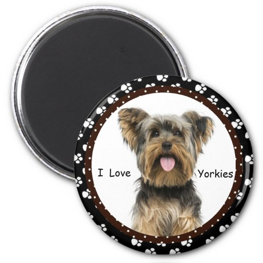 I love Yorkies  Magnet