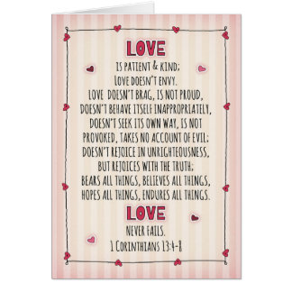 I Love You 1Corinthians 13:4-8 Card