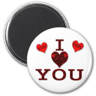 I Love You 6 Cm Round Magnet