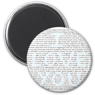 I Love You 6 Cm Round Magnet