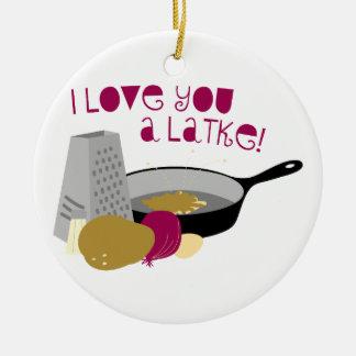 I Love You A Latke! Christmas Ornament
