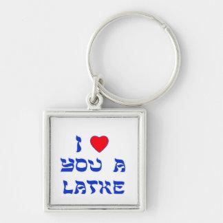 I Love You a Latke Key Ring