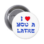 I Love You a Latke Pinback Button